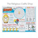 Happy Birthday Jesus Activity Sheets: Pack of 8
