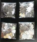 Silver confetti selection pack