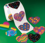Funky Heart Stickers - 50 Stickers