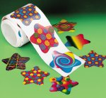 Funky Star Stickers - 50 pack