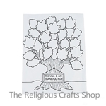 Tree of Thanks Writing or Colouring Sheets - Pack of 10 Sheets