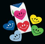 Smile Heart Stickers:  50 Stickers