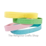 Glow in the Dark Faith Rubber Bracelet:  1 unit