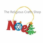 Christmas 'Noel' Foam Crafts:  12 Pack