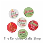 Christmas 'Jesus Is the Reason for the Season' Badges - Pack of 12