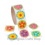 Bright Flowers Stickers:  Pack of 50