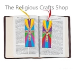 Colourful Mosaic Cross Bookmarks - Pack of 12