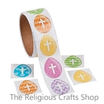 Easter Egg and Cross Stickers - Pack of 50