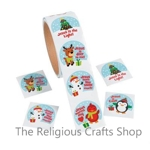 Cute Christmas Inspirational Stickers:  Pack of 50