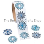 Snowflake and Cross Stickers:  Pack of 50