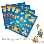 Nativity Sticker Sheet:  1 unit