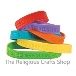No Greater Love Rubber Bracelet - 1 Unit