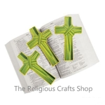 Palm Leaf Cross Bookmark:  1 unit