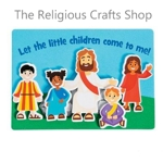 Jesus and Children Magnetic Crafts - Pack of 12