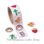 Christian Symbols Smiles Stickers - Pack of 50
