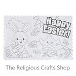 Colour Your Own Easter Placemats:  Pack of 12