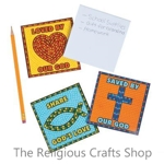 Christian Note Pads with Mosaic Designs - Pack of 6
