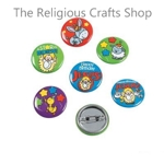 Happy Birthday Jesus Badges:  Pack of 4