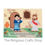Easter Sticker Scene 'Thomas Believed Jesus':  Pack of 12