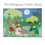 Easter Pack: Jesus Praying in the Garden Sticker Scene:  Pack of 12