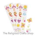 Children's Inspirational Easter Sticker Sheet:  1 item