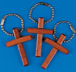 Wooden Cross Key Chain - 1 unit