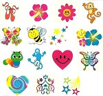 Fundraising Pack of Tattoos for Girls:  120 Tattoos