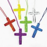 Colourful Cross Necklaces - 1 unit