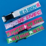 He Lives Inspirational Friendship Bracelets:  12 Pack