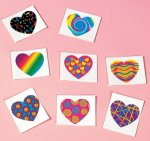 Funky Heart Tattoos - 8 pack