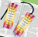 Christian Ten Commandments bookmarks:  24 pack