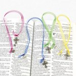 Ornate Cross Ribbon bookmark - 1 unit