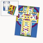 Mosaic Make a Cross Sticker Scene - Pack of 12