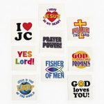 Religious Message Tattoos - 12 Pack