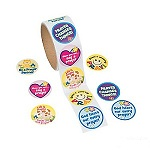 Children's Prayer Stickers:  Pack of 50