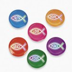 Christian Fish Badges - pack of 4