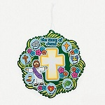 Life of Jesus Make-a-Wreath Sticker set - 12 Pack