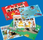 Make a Bible Story sticker sheets:  Sunday School 12 sheet pack