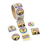 Easter Christian Stickers - Pack of 50