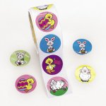 Easter Bunnies and Chicks Stickers:  50 Stickers