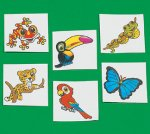 Children's Rainforest Tattoos:  12 pack