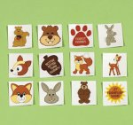Children's Forest Friends Tattoos:  12 pack