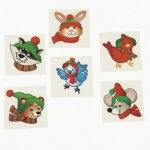 Winter Wonderland Creature Tattoos:  Pack of 12