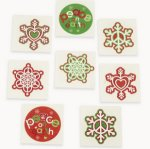 Peace on Earth Glitter Tattoos:  pack of 12