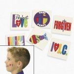 Joy For Jesus Tattoos - 12 Pack