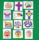 Christian Religious Tattoo Selection - 12 pack