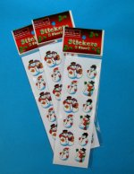 Christmas Snowmen Sticker Selection - 1 sheet