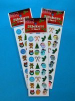 Iridescent Christmas Sticker Selection:  1 sheet