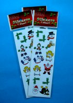 Christmas Glossy Sticker Selection - 1 sheet