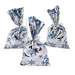 Metallic Snowflake Goody Bags: Pack of 12